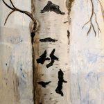 birke acryl auf zeichenkarton 445x175 cm