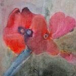 blooms pigmentmalerei auf malkarton 30x30 cm