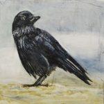 dohle pigmentmalerei auf leinwand 30x30 cm