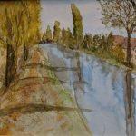 wr. neustädter kanal aquarell auf aquarellpapier 40x30 cm