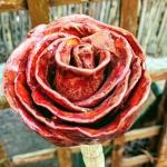 Rose aus Ton
