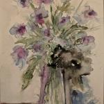 blumenstrauß aquarell <br>papier 23,5x15,5 cm