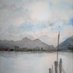 eismeer aquarell <br>papier 31x23 cm