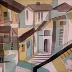 houses aquarell <br>papier 31x23 cm