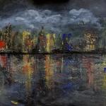 skyline acryl <br> malplatte 60x40 cm