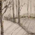 snowfall aquarell <br> papier 31x23 cm