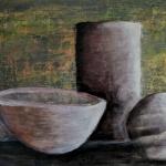 steinzeug acryl <br>papier 44x28,5 cm