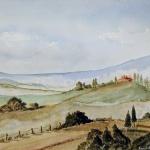 toscana aquarell <br>papier 31x41 cm